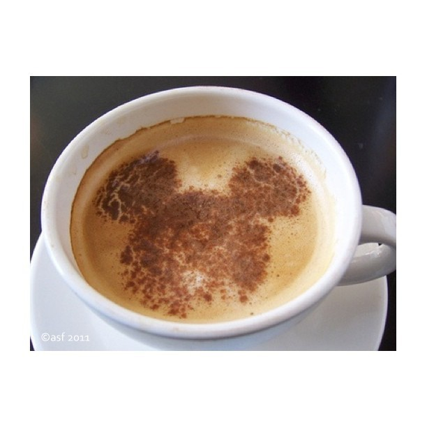 losangelesmetropolitan:  Seems like Mickey is everywhere, even in my coffee. Downtown Disney, Anaheim