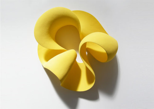 ceramicsnow:  Merete Rasmussen: Yellow wall loop #2