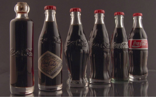 jaymug:  Evolution of the Coca-Cola Bottle  my best friend's dad needs something cool like this for his man-cave-room