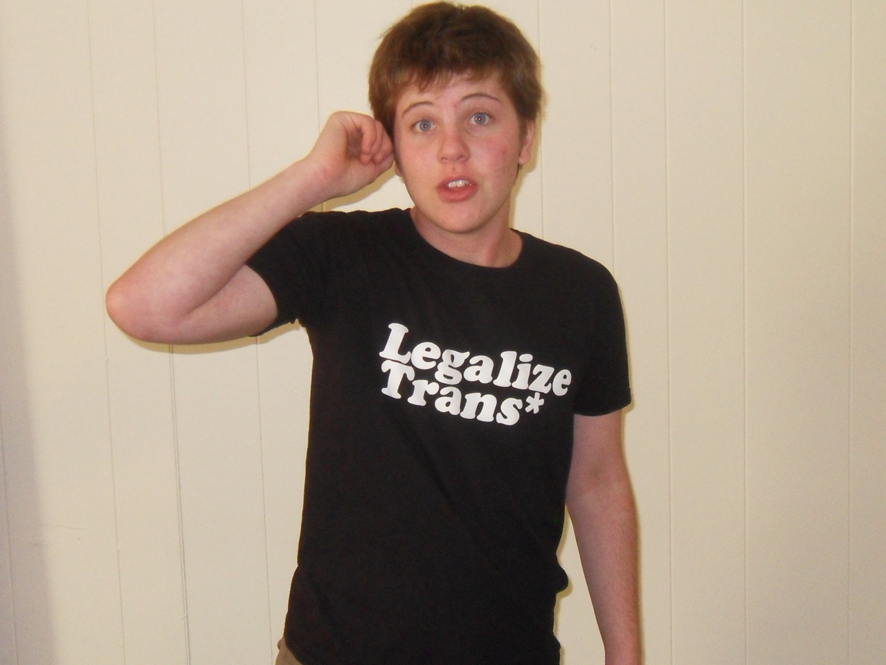 artoftransliness:  Just got my Legalize Trans* shirt, support the campaign, get yours here!