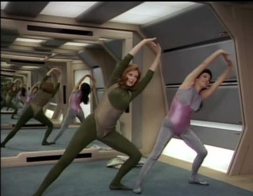 Recursive Crusher & Troi (P.S. - If TNG was first-run today, Gates McFadden, Marina Sirtis, and Diana Muldaur would be in a Maxim photoshoot. Deal with it)