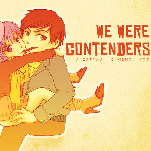 "brappzannigan:  WE WERE CONTENDERS l A Cartman x Wendy FST→ download 01. ""Okay I Believe You, But My Tommy Gun Don't"" // Brand New  I am heaven sentDon't you dare forgetI am all you've ever wantedWhat all the other boys all promisedSorry I told, I just needed you to knowI think in decimals and dollarsI am the cause to all your problems We're concentrating on falling apart We were contenders, now we're throwing the fightBut I just wanna believe, I just wanna believe,I just wanna believe in us   02. ""I Will Possess Your Heart"" // Death Cab for Cutie  How I wish you could see the potentialThe potential of you and meIt's like a book elegantly bound butIn a language that you can't read just yet You got to spend some time, loveYou got to spend some time with me   03. ""Bitch Went Nuts"" // Ben Folds  The bitch went nutsShe stabbed my basketballAnd the speakers to my stereoBut nothing prepared me forWhat I found when I came home  04. ""Talk to Me, Dance With Me"" // Hot Hot Heat  You are my only girl, but you're not my owner girlYou are my only girl, but you're not my owner So perfect you paint it… yet so manipulatedSo calm and so patient… yet oh so calculated   05. ""Gallery Piece"" // Of Montreal  I want to be a beastI want to make you proudAnd play with your headI want to take you outMake you feel adoredAnd buy you everythingI want to hurt you badMake you paranoidAnd say the sweetest things  06. ""Folds In Your Hands"" // Passion Pit  Leave me alone, leave me alone, leave me alone, I'm fineI'll be fine until the morning comesThen unmask me in the blistering sunOh let me go, just let me go, just let me go, or I'llBurst in front of your eyesThen collect myself from the ground Everything's easy when you never have to chooseWith the balances shifting and you're forced to loseLike the sun and the moon, I will circle you until you bloomI will crush, I will maul, I will burn until I get to you   07. ""What Starry Eyes Know"" // Ellie Goulding vs. Two Door Cinema Club  I can tell just what you wantYou don't want to be aloneYou don't want to be alone  08. ""End Love"" // OK Go  So sugar, so sugar dance with me this one last timeWe got no reason, we got no reason I can see to hold back tonight'Cause no one's gonna catch you if you can't just let goNo one's gonna love you if you can't let love show  09. ""Gold Guns Girls"" // Metric  All the gold and the guns and the girlsCouldn't get you offAll the boys, all the choices in the world Is it ever gonna be enough?   10. ""Every Man Has a Molly"" // Say Anything  Here I am laid down at the end of my ropeWishing I had not been bornNow I've spewed too muchI can never shut it upI thought you should be warnedAnd I implied black skyTook the needle to my eyeSucked out all its glowWhoa, Molly Connolly ruined my lifeI thought the world should know  11. ""Love and Affection"" // Neon Trees  I just don't understand Why my love isn't good enoughPut yourself in my shoesPut yourself in my shoesI don't know what you've been toldThe rich get rich, the poor grow oldWhen everybody's blood runs coldIt's time for something real Love and affectionLove and affectionEasing the tensionWith love, love and affection   12. ""I Just Sighed. I Just Sighed, Just So You Know."" // Los Campesinos!  Sometimes it's just enough to know I keep him on his toesIs he as sympathetic as me to the untimely demise of your synthetic clothes?I've displayed marriage proposals on the Jumbotrons of ballgames you've not been atI've written eulogies in guestbooks of galleries in hopes that you might pass Just let me be the one that keeps track of the moles on your backI just sighed, the universe replied, ""let this pass you by""   13. ""Rolling in the Deep/Someone Like You/Turning Tables (Adele Megamix)"" // Alex Goot, Justin Robinett, and Michael Henry  Finally I can see you crystal clearGo ahead and sell me out, I'll lay your ship to bareSee how I'll leave with every piece of youDon't underestimate the things that I will do  14. ""Obstacle 1"" // Interpol  Her stories are boring and stuffShe's always calling my bluffShe puts the, she puts the weights into my little heartAnd she gets in my room and she takes it apart  15. ""One More Night"" // Stars  Try as he might, he's unable to speakHe grabs her by the hair, he strokes her on the cheekThe bed is unmade, like everything isDark little heaven at the top of the stairs He drops to his knees, says ""Please, my love, please,I'll kill who you hate, take off that dress, you won't freeze"""