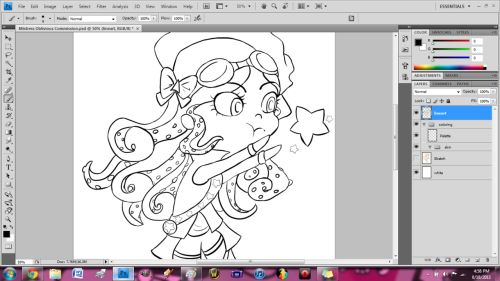 The WIP lineart for my commission for Mistress Oblivious on Gaiaonline :3 The squid hair killed me, but it was fun~