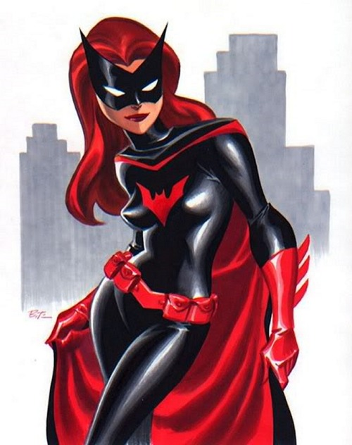 Bruce Timm's interpretation of Batwoman. Beautiful. How great would it have been if she was in Batman: The Animated Series?