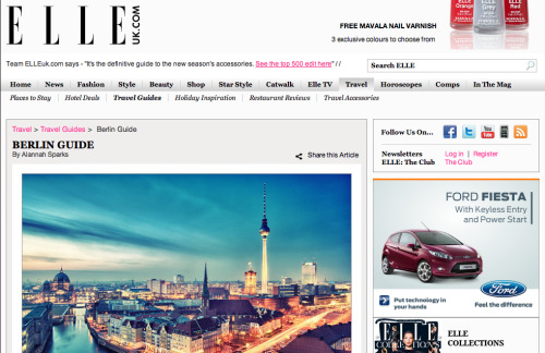 Elleuk.com 17/08/11 Berlin Travel Guide