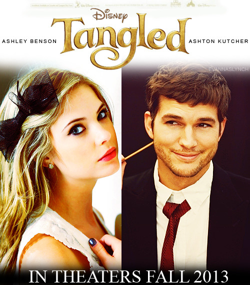 Disney In Real Life | Tangled  Ashley Benson as Rapunzel  Ashton Kutcher as Flynn Rider