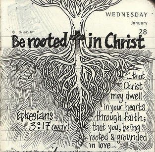be-the-change:  Be rooted in Christ.(via Liyin the Designer-in-Pajamas)