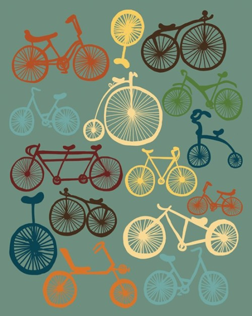 (via I LOVE BIKES 7 5/8 x 9 5/8 Size by ParadaCreations on Etsy)