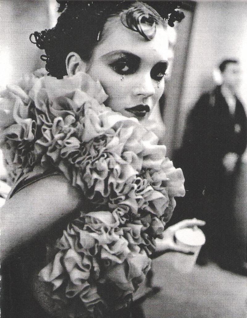 Kate Moss backstage at John Galliano F/W 1995