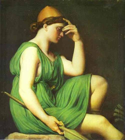 cavetocanvas: Jean Auguste Dominique Ingres, Odysseus: Study for the Apotheosis of Homer (c. 1827)