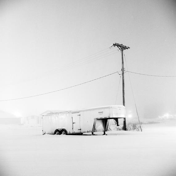 Trailer in a Snow Field by Kip Praslowicz  Thats right, I'll reblog other people's postings of my work. Wooo!