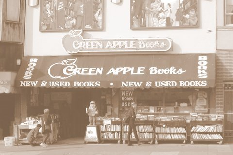 Green Apple books, in the Inner Richmond neighborhood of San Francisco, is one of my favorite bookstores in the entire world, and here is one of the many reasons why:   Exempt Green Apple Books from California Sales Tax Now!  Amazon is spending $3,000,000+ trying to collect 500,000+ signatures to overturn the new CA law that requires them to collect sales tax. Green Apple Books thinks we, too, should be exempt. Here's why: More than two-thirds of Green Apple's staff do not have children and therefore should not really contribute tax money to public education;  Most of the staff members do not own cars, so maintaining good roads isn't that important. They could just walk; Statistics suggest that booksellers are 36% less likely to use emergency services than antiques dealers; Although many of the staff at Green Apple do in fact enjoy state and local parks, they sort of think someone other than the bookstore's customers should pay to maintain them   ~ via The Rumpus. Here is a link to their petition responding to Amazon's bid to win exemption from the California State Tax Fairness law.