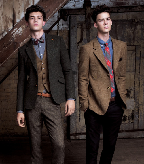 ohmyfrancisco:  Francisco Lachowski and Mateus Lages.  T.I for Men FW11.