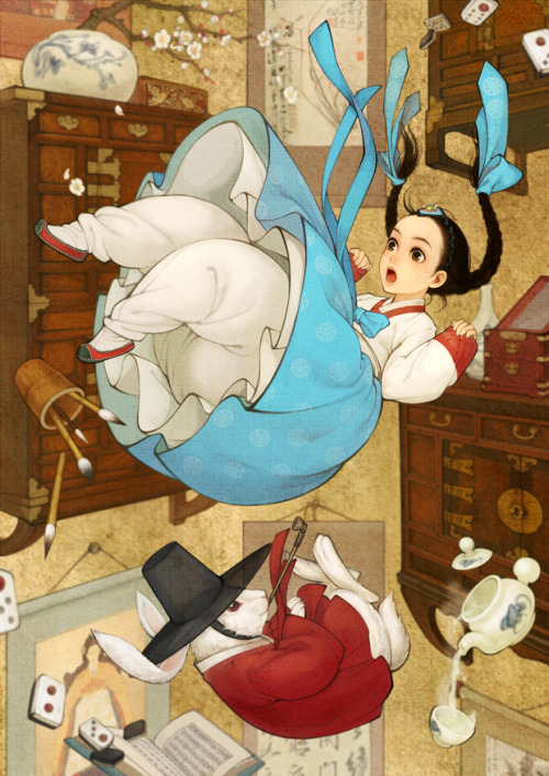 "fairytalemood:  ""Alice in Wonderland"" by obsidian"