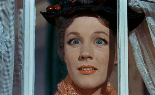 Julie Andrews as Mary Poppins with Michele Bachmann eyes.