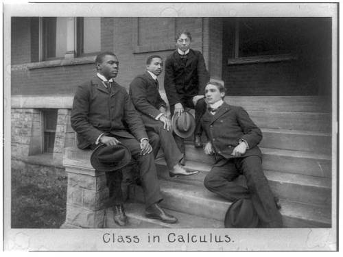"""Class in calculus"" Fisk University, Nashville, Tennessee, ca. 1899 Photographer unknown"