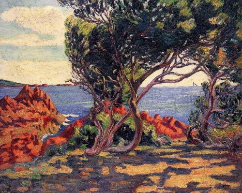 23rd-block:  Armand Guillaumin, Agay, at Cap Long, 1895.