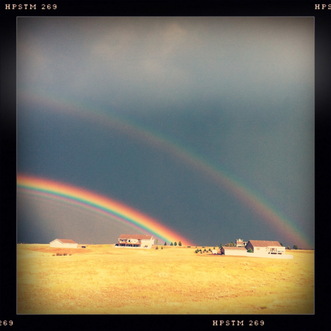 Rainbow III Taken with Hipstamatic, Tejas Lens, Pistil Film, No Flash.