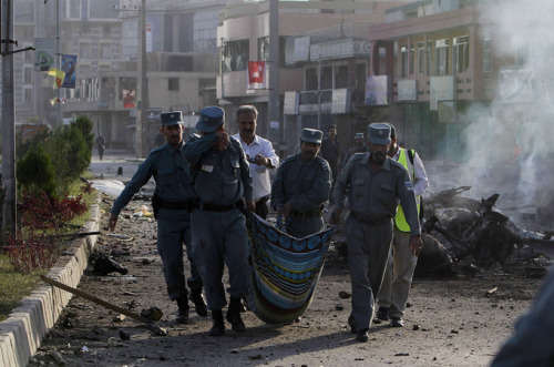 At least eight people have been killed so far today in the Afghan capital of Kabul amid two (possibly three) suicide bombings as well as gunfire from gunmen.  Police are still battling with the armed gunmen in the city. Today is Independence Day in Afghanistan, which it obtained from Britain in 1919. Current time in Kabul: 11:00 AM