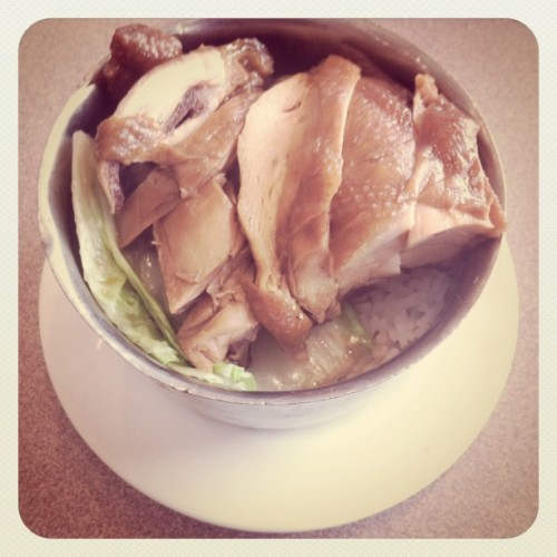 #Soy #chicken #rice #topping for #lunch. #dimsum #Chinese #food (Taken with instagram)