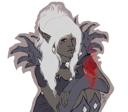 m-m-moore:  A rough idea of my DnD drow~ Sorcerer on her way to being a arachnomancer~  This is byooteefuuuul~