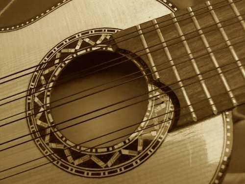The sound hole of my charango.