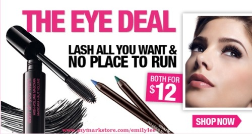 Best deal ever!! LEGIT liner AND mascara that is only 12 bucks?!? WTF YES PLEASE!!! You can get this at www.mymarkstore.com/emilylee <3 If you are new you get FREE SHIPPING with code WELCOME on my eBoutique. XOXO,Emily