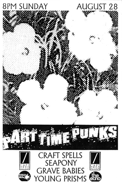 heardinstinct:  Part Time Punks at The Echo always shreds and this Sunday (8/28) will be no different as Captured Tracks takes over. Craft Spells - After the Moment [MP3] Seapony - With You [MP3] Young Prisms - Sugar [MP3] Grave Babies -  Haunted [MP3]