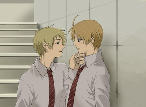 lovyaoi:  EnglandAmerica _ dunno why~ why alfred look so lovely when he blushing ?