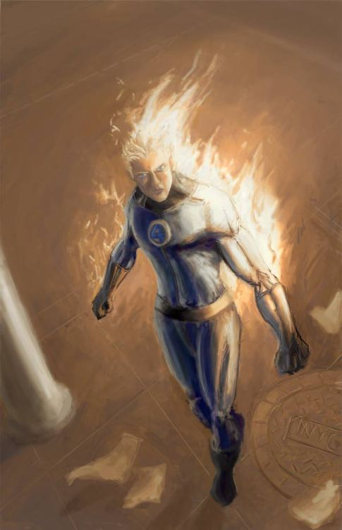 dantetheredknight:  By blacksmithx  Johnny Storm aka The Human Torch