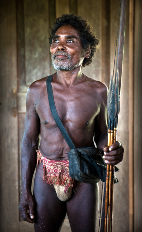 Agta Man in Traditional Dress.