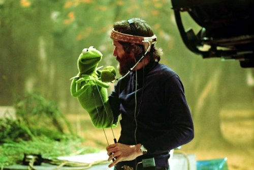 "inothernews:  EASY BEING GREEN   Jim Henson with perhaps his most famous creation, Kermit, an easygoing frog whom he regarded as his alter ego.  (Photo: The Jim Henson Company / The Muppets Studio via the New York Times)  Today is now officially ""dudes with beards and headbands"" blog."