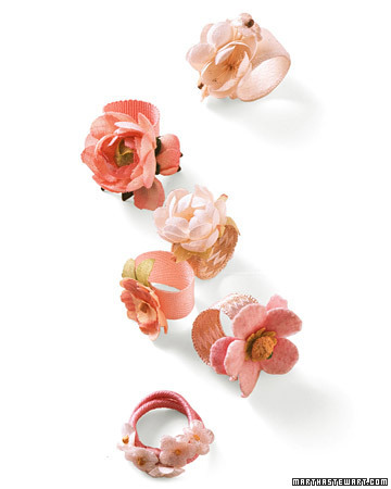 craftjunkie:  Blooming Rings {How to} Found at: http://www.marthastewart.com