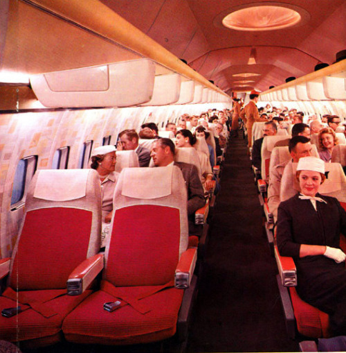 Pre-release interior mock-up of the Boeing 707.