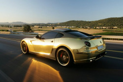 automotivated:  Gold Ferrari GTB 599 hamann (by Saudi To Speed)