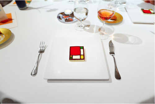 Gastronomic Mondrian:  Carme Ruscadella of Sant Pau (Spain) via Adam Goldberg from A Life Worth Eating [2011]