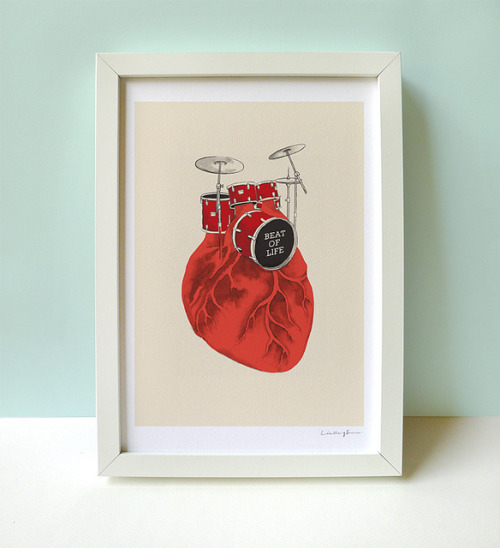 365daysof27:  Beat of Life - Art Print by ILoveDoodle on Flickr.