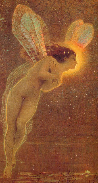 John Atkinson Grimshaw, Iris, 1886 (detail) on Flickr. Click image for 955 x 1770 size.Click image for 600 x 411 size. Click image for 1092 x 721 size. Click image for 584 x 800 size.
