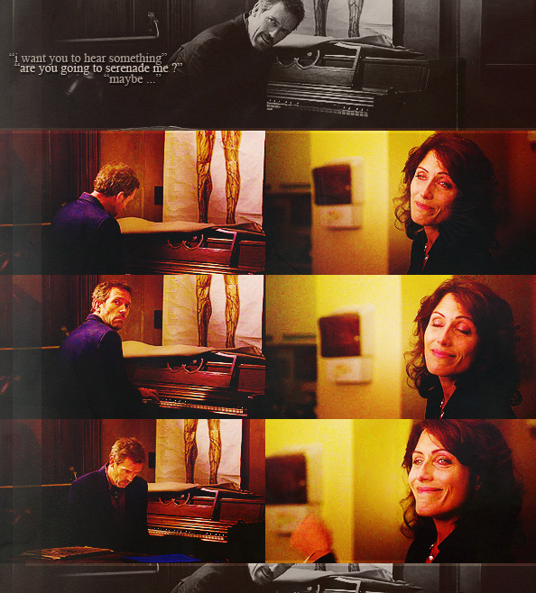 lobemeifyoudare:  Huddy things I wish had happened— House plays Cuddy's serenade for Cuddy
