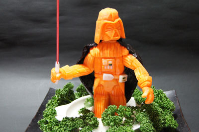Now THAT is making the most of your veggies. Bow before Carrot Vader!!!