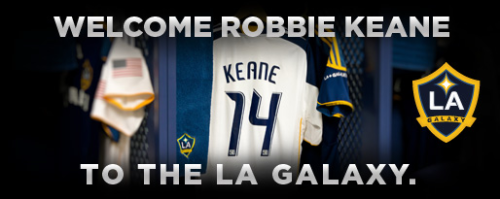 Robbie Keane's LA Galaxy sick kit is now available. He will wear #14.  - DJ