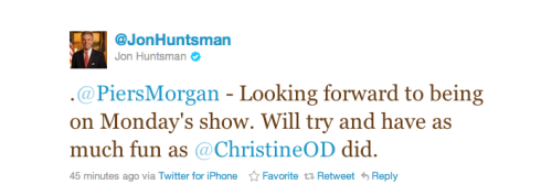 joshsternberg:  Jon Huntsman killing it on Twitter.