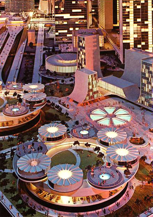 #Futurama archimaps:  View of the model at the Futurama, New York World's Fair in 1964