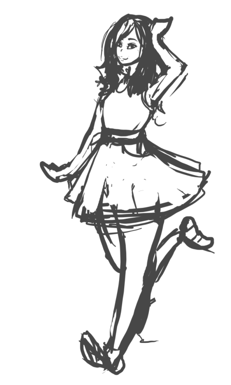 The WIP sketch for my commission for Calibz on Gaiaonline. :3 This is going to be done in the same style as the experimental, wish me luck! ^^