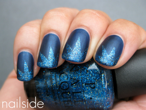 Explosion mani with OPI Absolutely Alice