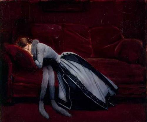 oldrags:  After the Misdeed by Jean Beraud, 1885-90 France, National Gallery, London
