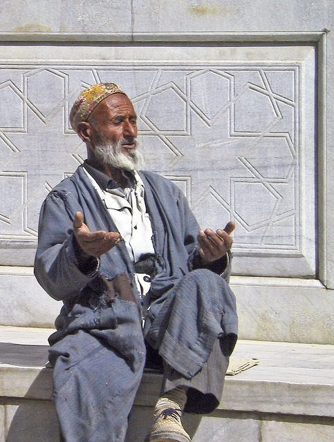 onthesilkroad:  Praying Man by jaxxon on Flickr. Via Flickr:View On Black via onTheSilkRoad.tumblr.com