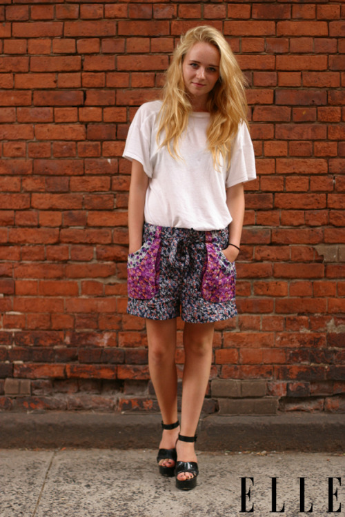 elle:  Street Chic: New York The perfect easy summer getup for casual Friday! Photo: Rachel Scroggins