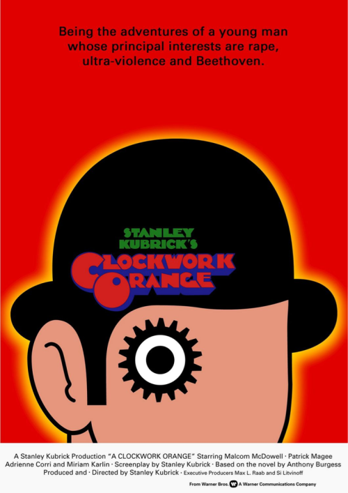 (#100) A Clockwork Orange - 1971 - Directed by Stanley Kubrick  A very interesting & thought provoking film. Kubrick has a very distinct directorial style that continues in this film in a way that really engages you with the story. Overall I enjoyed the film, but it did feel a bit long near the middle of the film.