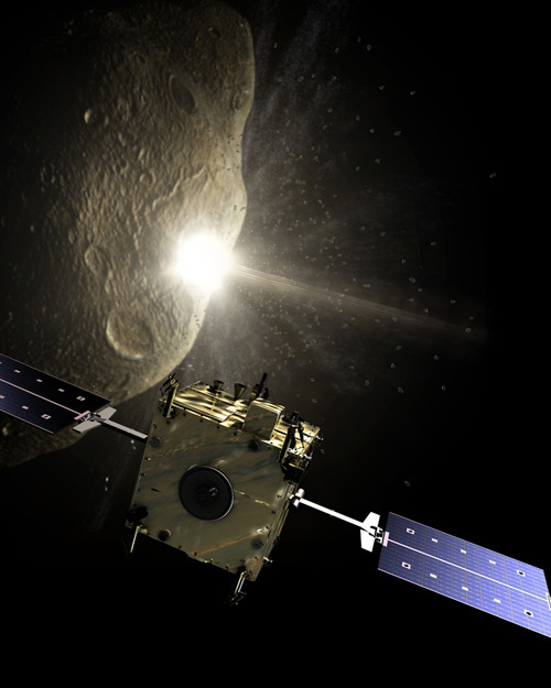 kenyatta:  China and Europe Both Have Plans To Prevent Deadly Asteroid Apophis from Hitting Earth in 2029 (or 2036)  Apophis is a 46 million tonne asteroid that will pass within a hair's breath of Earth in 2029. However, Apophis's trajectory is likely to take it through a region of space near Earth known as a keyhole that will ensure the asteroid returns in 2036. Nobody knows how close Apophis will come on that pass. But if there's a chance of a collision, we'll have only 7 years to work out how to avoid catastrophe. Researchers at Tsinghua University in Beijing say their preference is to use a solar sail to place a small spacecraft into a retrograde orbit and on collision course with Apophis. The retrograde orbit will give it an impact velocity of 90km/s which, if they do this well enough in advance, should lead to a collision large enough to do the trick. In 2002, the European Space Agency began a program called Don Quijote to find out how best to perform such a deflection. Don Quijote involves sending two spacecraft to a near Earth asteroid; one to smash into it and the other to watch while in orbit above the impact crater. The goal is to change the asteroid's semimajor axis by more than 100 metres and to measure the change with an accuracy greater than 1 per cent.  via Technology Review